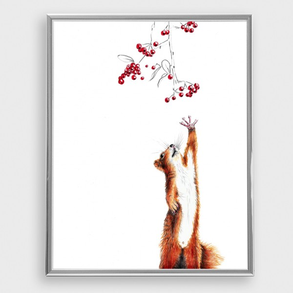 Squirrel art print by Janine Sommer